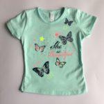 футболка мятного цвета детская